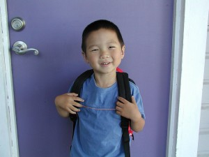 First Day of Preschool in Raleigh